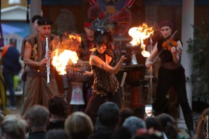Sage performing at Texas Renascence Fair 2014 with The Gypsy Dance Theater